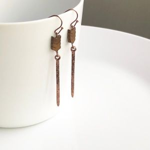 "Jewelry - NEW ""Lagertha"" Stone Earrings (rose gold)"